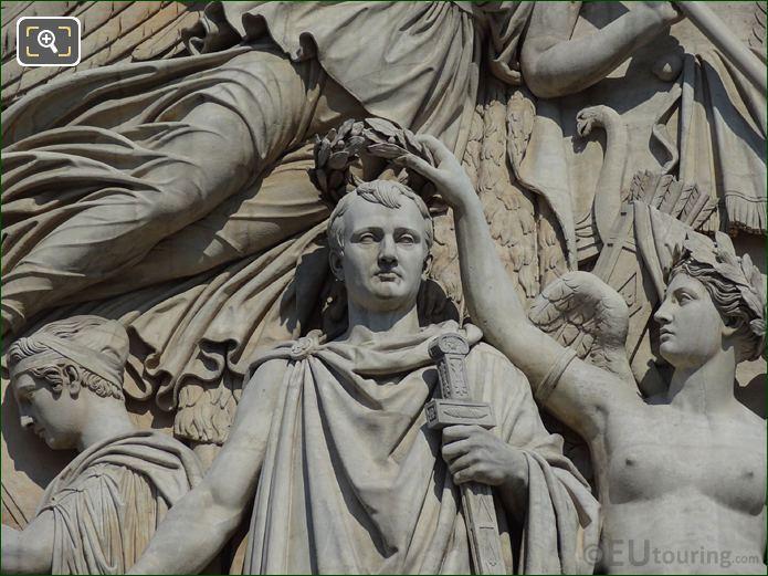 Napoleon I Statue On Le Triomphe De 1810 Sculpture