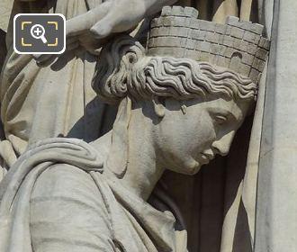 RHS Female Figure On Le Triomphe De 1810 Sculpture