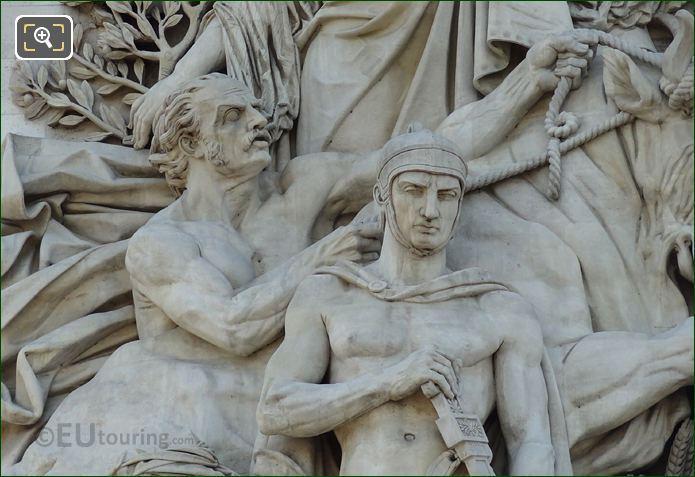 The Treaty Of Paris 1815 Sculpture On The Arc De Triomphe