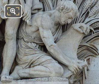 Farmer Statue Within La Paix De 1815 Sculpture At Arc De Triomphe