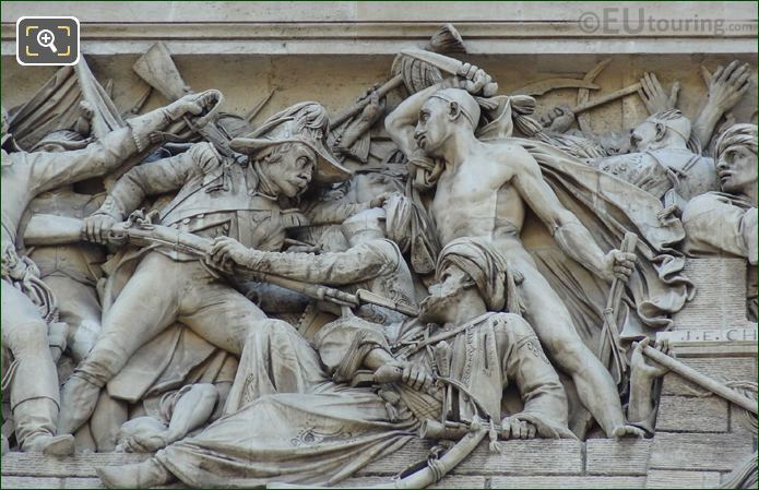 Arc De Triomphe Sculpture La Prise d'Alexandrie Le 21 Juillet 1798