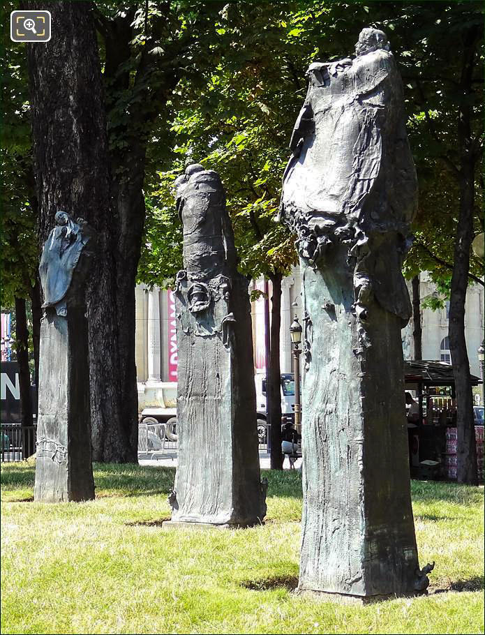 Jean Moulin statues at Champs Elysees Gardens