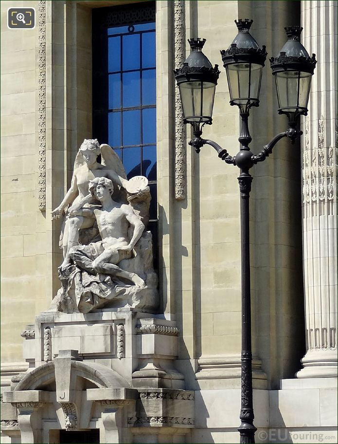 The Grand Palais L'Inspiration Ou La Peinture Statue