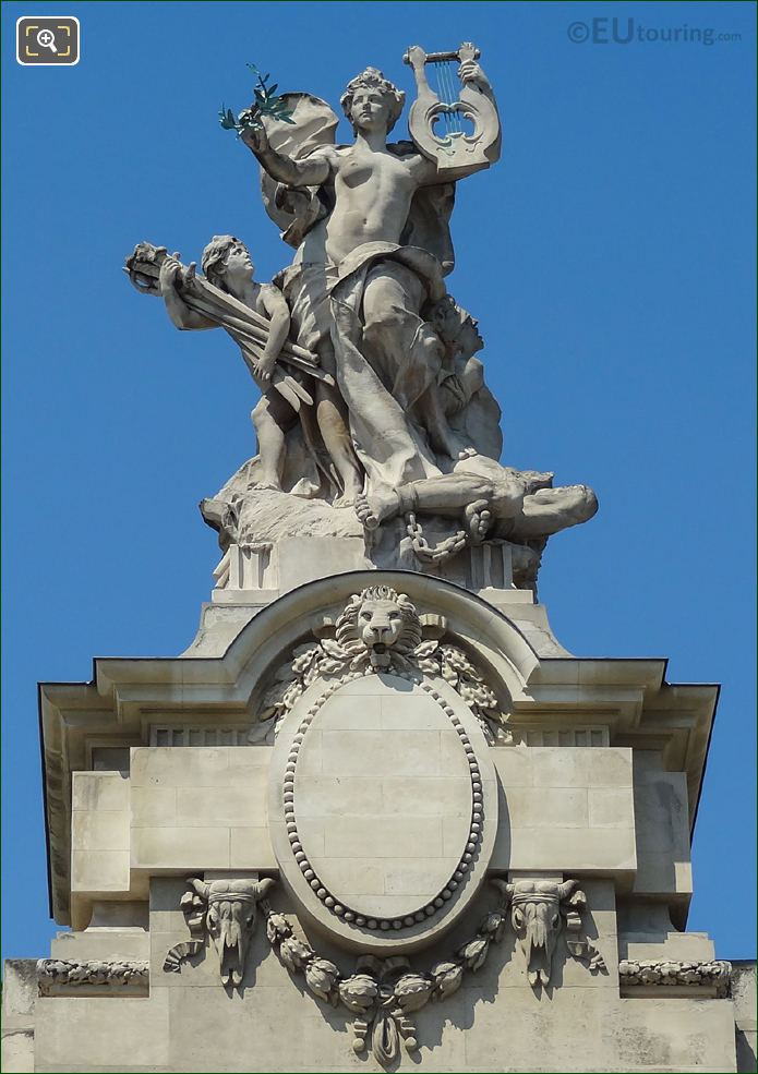 Statue At The Grand Palais In Paris