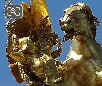 Golden Statue at Pont Alexandre III