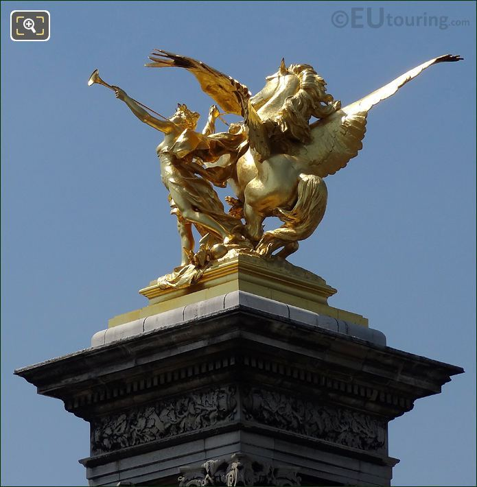 Pegasus Held By Fame On The Pont Alexandre III