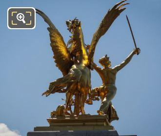 SE Golden Statue Alexandre III Bridge Paris
