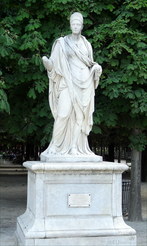 Photo of agrippine d 39 apres l 39 antique statue in the - Statues jardin des tuileries ...