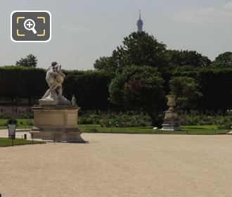Jardin Des Tuileries Grand Carre With Le Bon Samaritain Statue