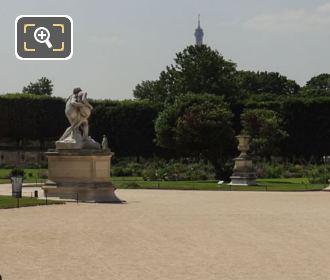 Jardin Des Tuileries Grand Carre With Le Bon Samaritain Statue