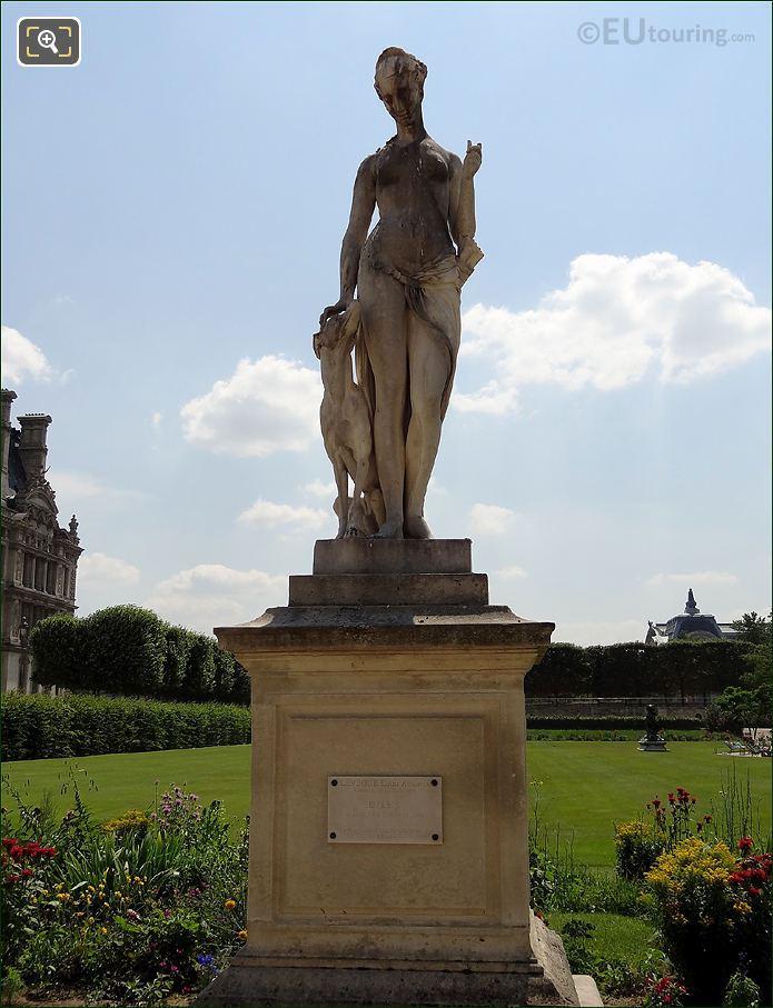 Tuileries Gardens Diane Statue