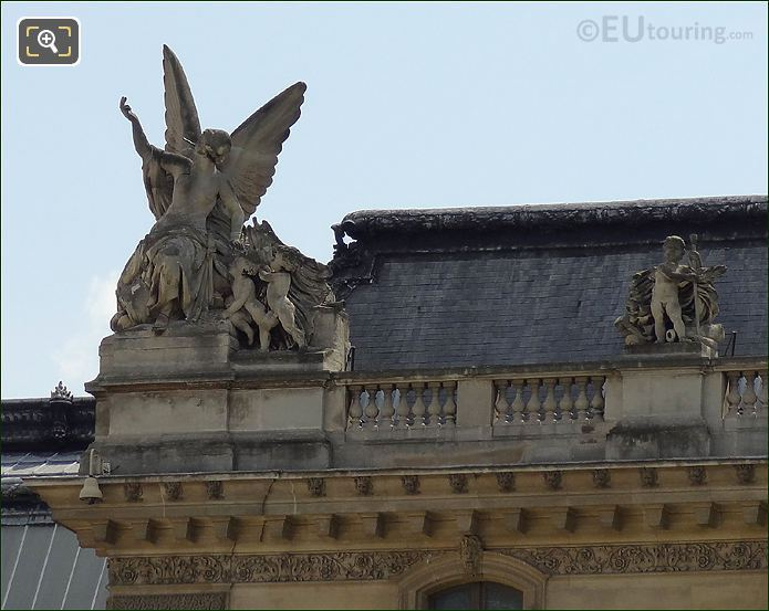 Musee Du Louvre Roof Statues