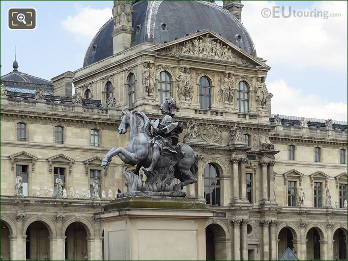 King Louis XIV Equestrian Statue And Pavillon Richelieau