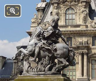 Left Hand Side Of King Louis XIV Equestrian Statue