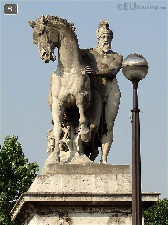 Pont d'Iena Statue Called The Greek Warrior