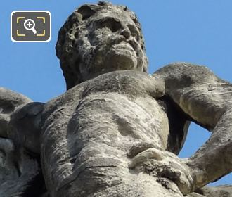 Gallic Warrior Statue By French Sculptor Antoine Preault