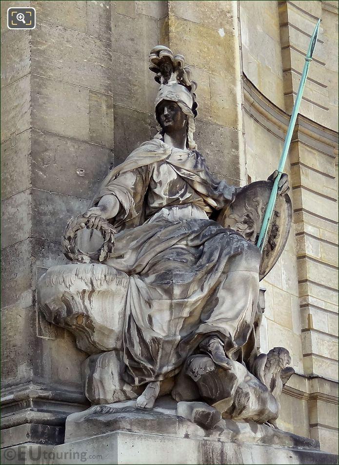 Les Invalides Roman Goddess Of Wisdom Statue