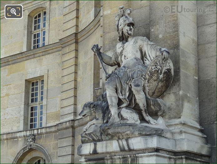 Mars Roman God Of War Statue L'Hotel Invalides
