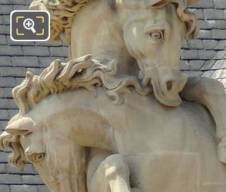 Horses Heads On Statue Group At Hotel Des Invalides