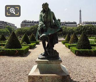Jules Hardouin Mansart Statue Inside Hotel Des Invalides Garden
