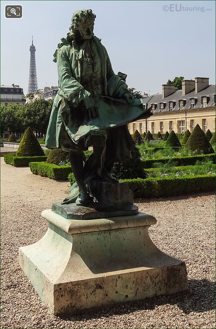 Bronze Jules Hardouin Mansart Statue By French Sculptor Ernest Henri Dubois