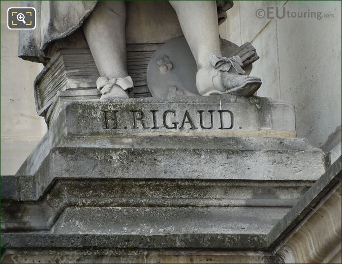 Hyacinthe Rigaud Statues Stone Base With Inscription