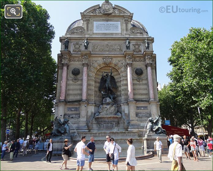 Fontaine Saint-Michel And Statues In The 5th Arrondissement Of Paris