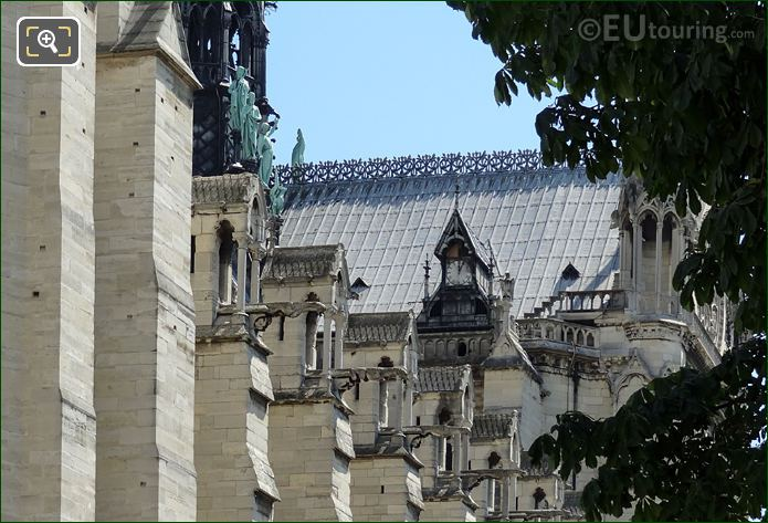 Notre Dame Cathedral Roof And Apostle Statues