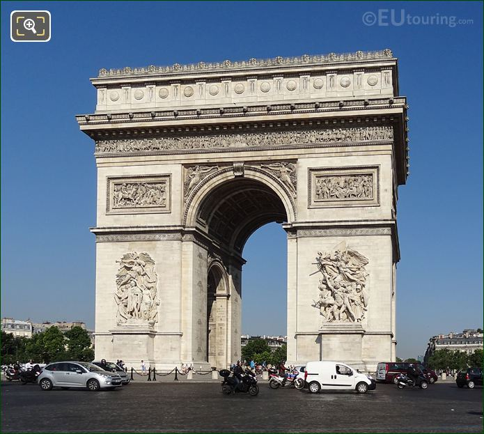East Facade Of Arc De Triomphe With La Bataille d'Aboukir Sculpture