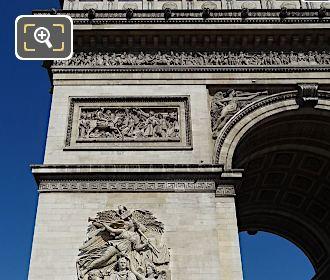 Arc De Triomphe South East Leg With La Bataille d'Aboukir Sculpture