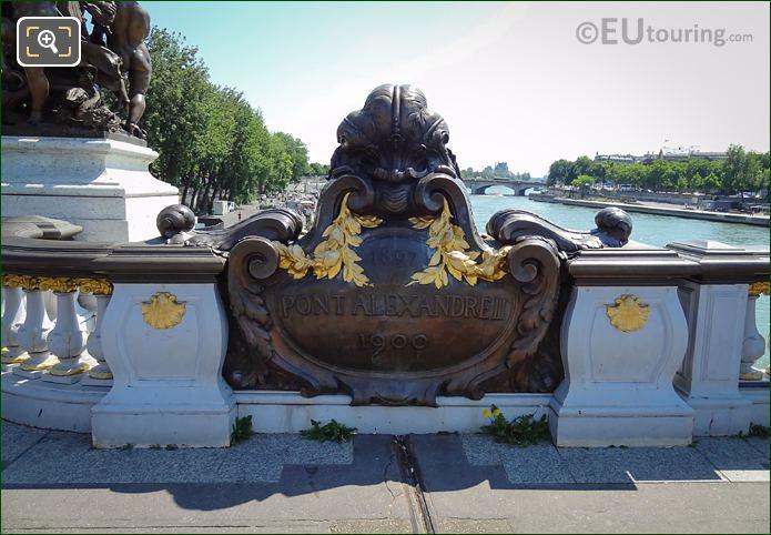 Pont Alexandre III Date Stone NE Side