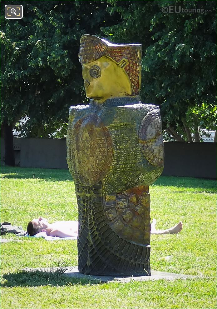 Statue Jean The Swiss By Rachid Khimoun