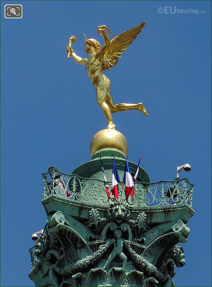 Genie De La Liberte Statue In Bastille Square