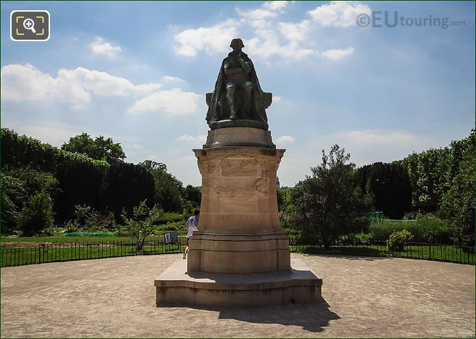 Jean Baptiste Lamarck Statue In Paris