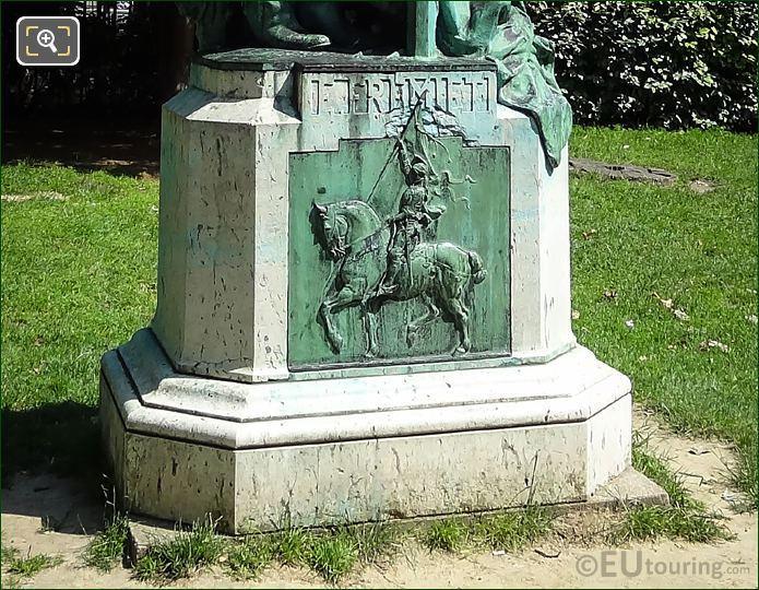 Joan Of Arc Bas-Relief On Emmanuel Fremiet Statue