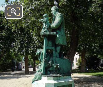 Side View Of Emmanuel Fremiet Statue
