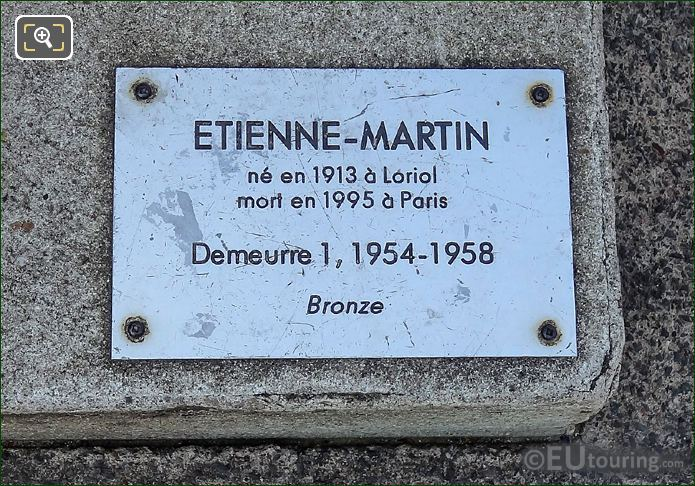 Plaque On Demeurre 1 Sculpture