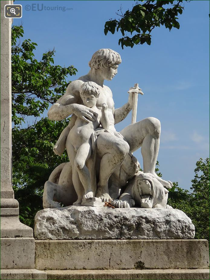 Marble L'Ordre Statue In Square Barye