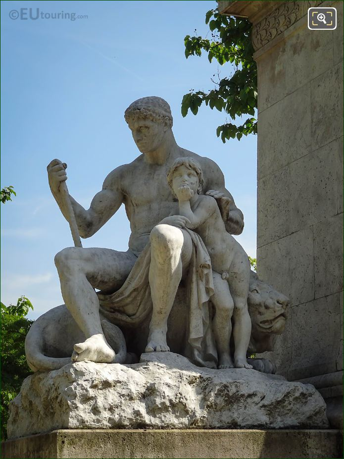 Marble La Force Statue In Square Barye
