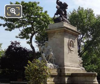 Barye Monument And La Force Statue Group In Paris