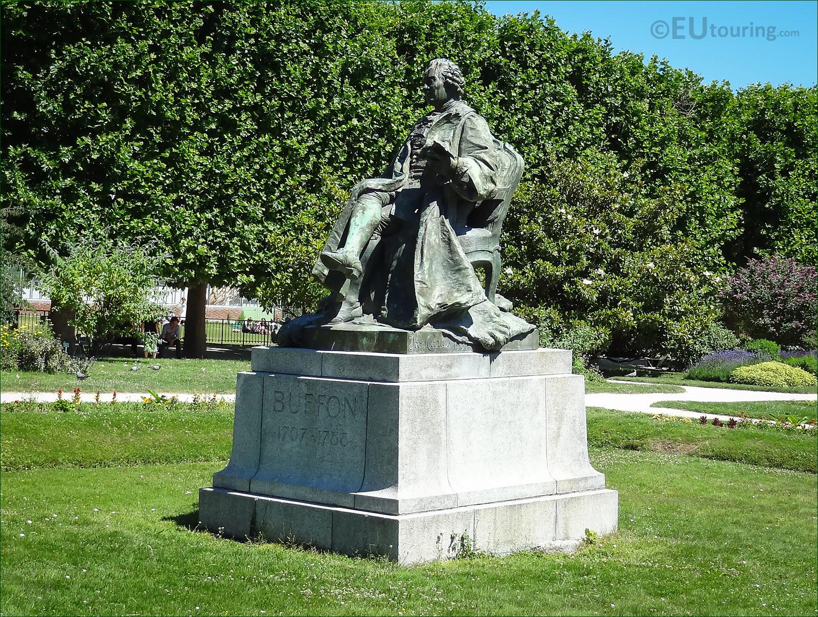 s te De Buffon Statue In Jardin Des Plantes Paris
