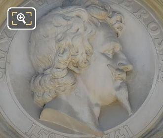 Bust Statue Of Guy De La Brosse