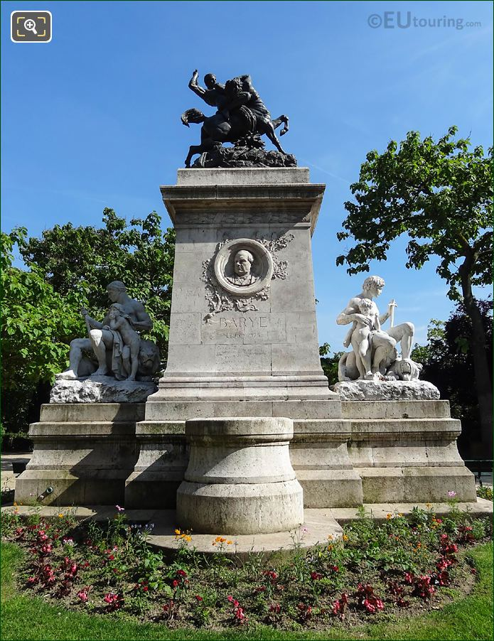 Barye Monument With Medallion Of Antoine Barye