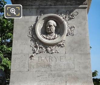 Stone Medallion Of Antoine Barye On Barye Monument