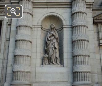Saint Genevieve Statue Eglise Saint Etienne Du Mont