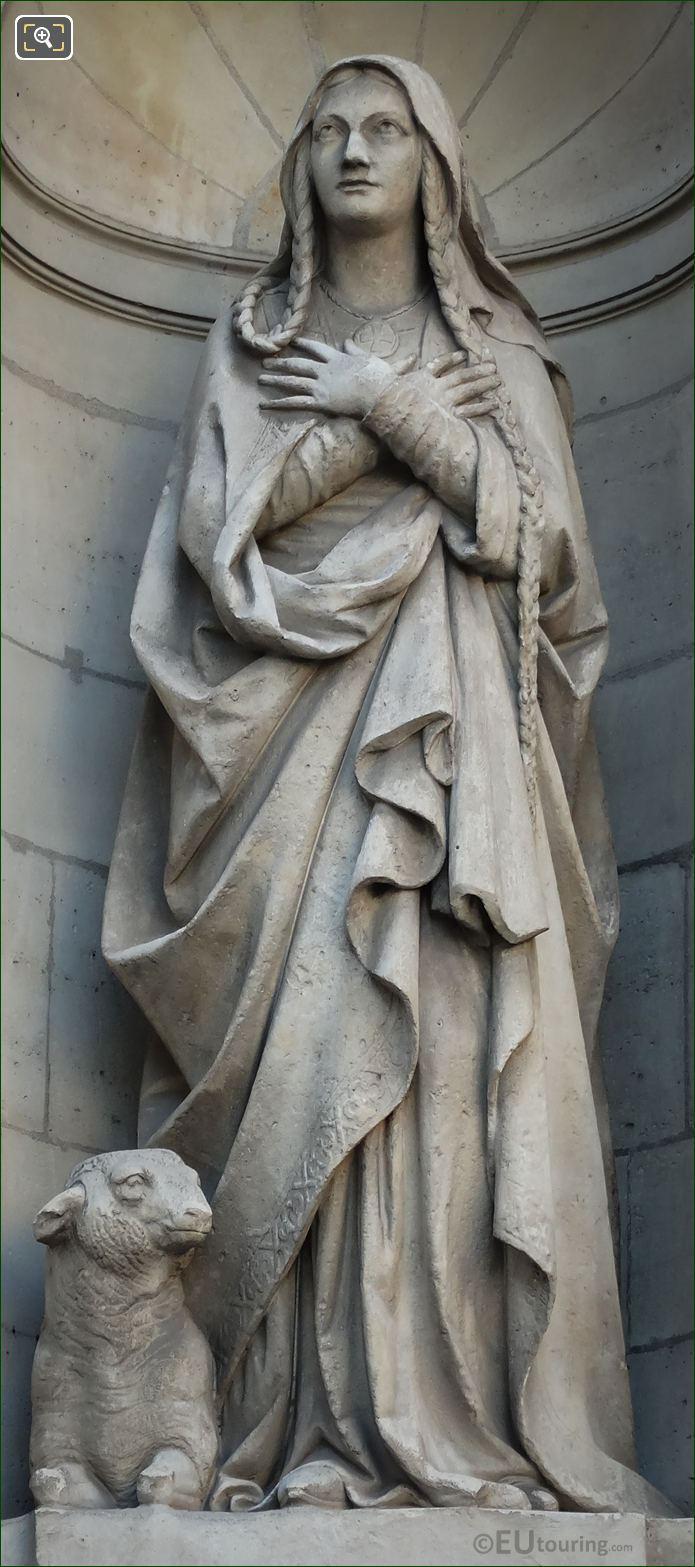 Saint Genevieve Statue By Victor Baltard