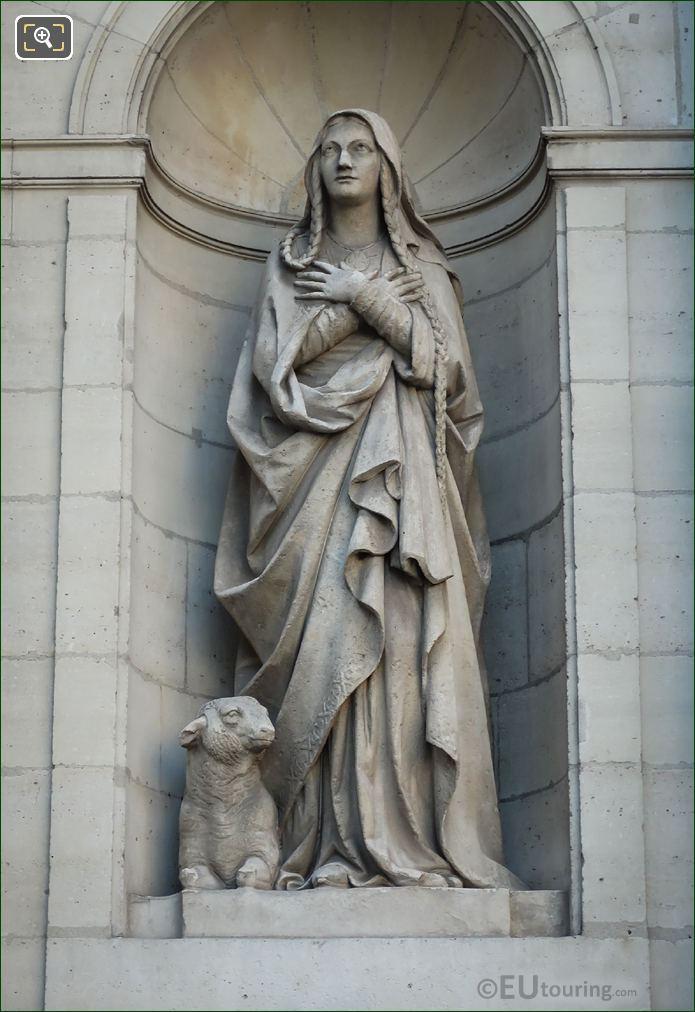 Saint Genevieve Statue 5th Arrondissement Paris