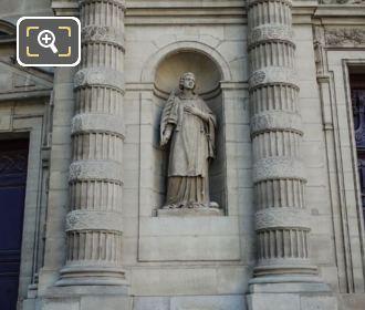 Saint Etienne Statue Eglise Saint Etienne Du Mont