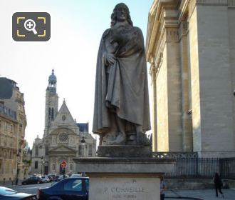 Statue Of Pierre Corneille By Gabriel Rispal
