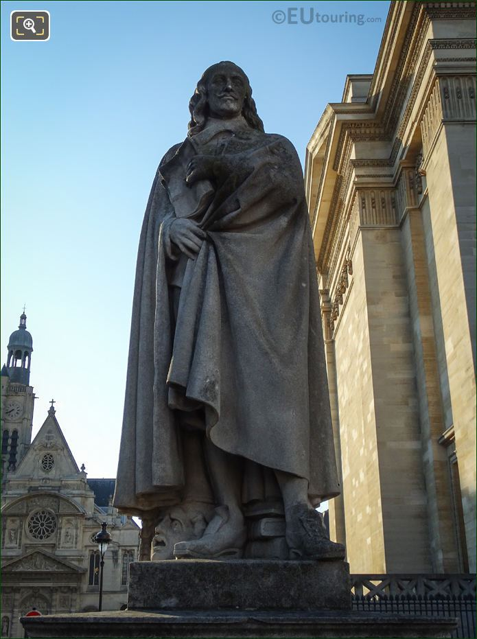 Pierre Corneille Statue At The Pantheon Paris